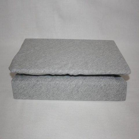 Простынь на резинке трикотажная 180x200 (серая)
