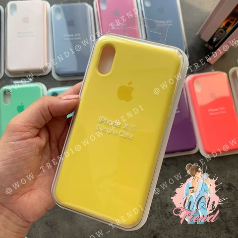Чехол iPhone X/XS Silicone Case Full /canary yellow/ канареечный