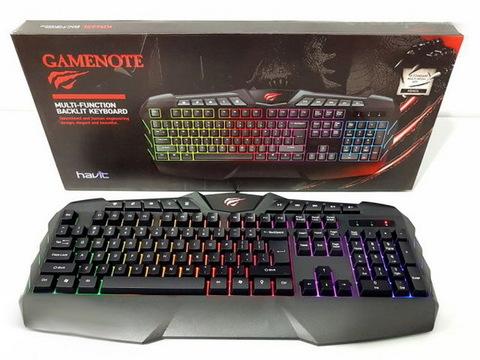 Клавиатура компьютерная Havit HV-KB465L, Multimedia USB с подсветкой, черная