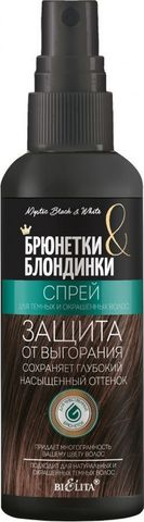 Белита Брюнетки и Блондинки Спрей для темных и окрашенных волос 150мл