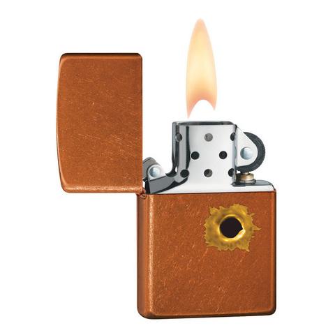 Зажигалка Zippo с покрытием Toffee, латунь/сталь, светло-коричневая, матовая, 36x12x56 мм