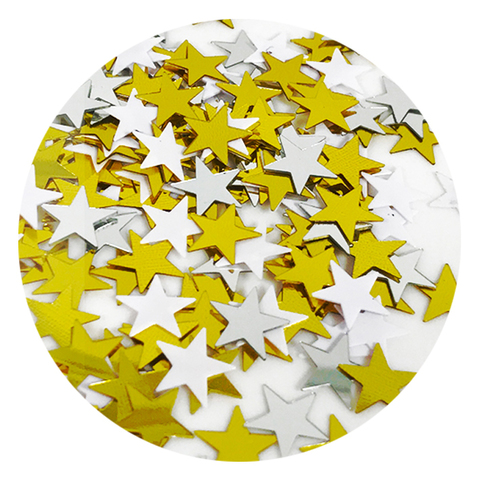 Звезды 0,8 см: Белый, Золото, Серебро