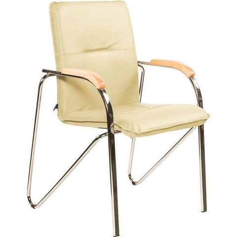 Кресло FA_SAMBA Chrome к/з светло-бежевый DO122/бук