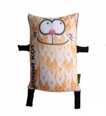 Подушка-игрушка антистресс «Теплый кот», оранжевый 1