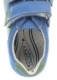 Полуботинки на липучках для мальчиков Котофей 432129-21, цвет голубой. Изображение 4 из 7.