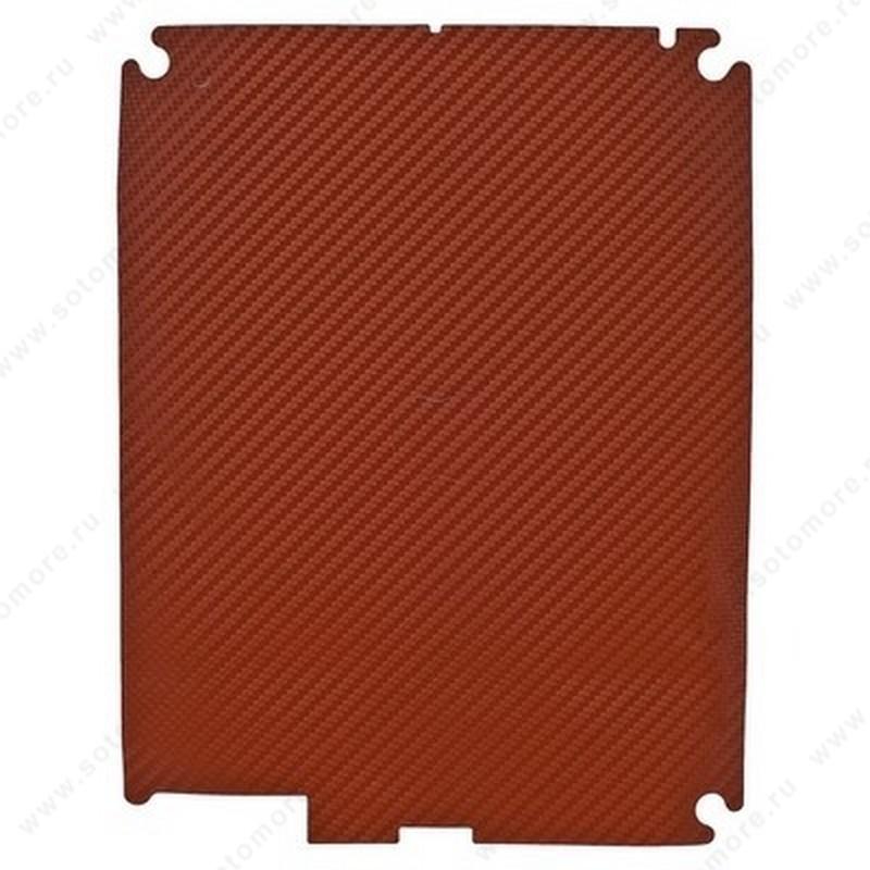Наклейка карбон для iPad 4/ 3/ 2 красная на заднюю часть
