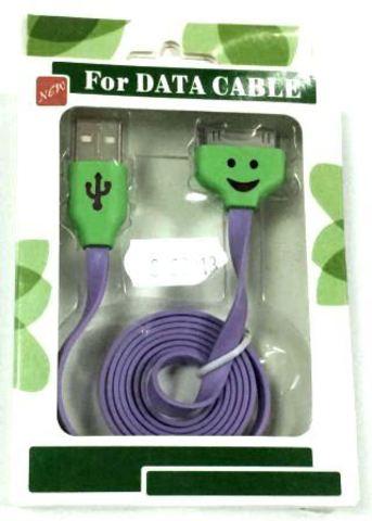 кабель USB Iphone 4S/4G/3GS Led 32213 blue