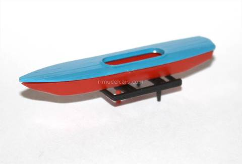 Boat with roof rack for car red-blue Kompanion 1:43