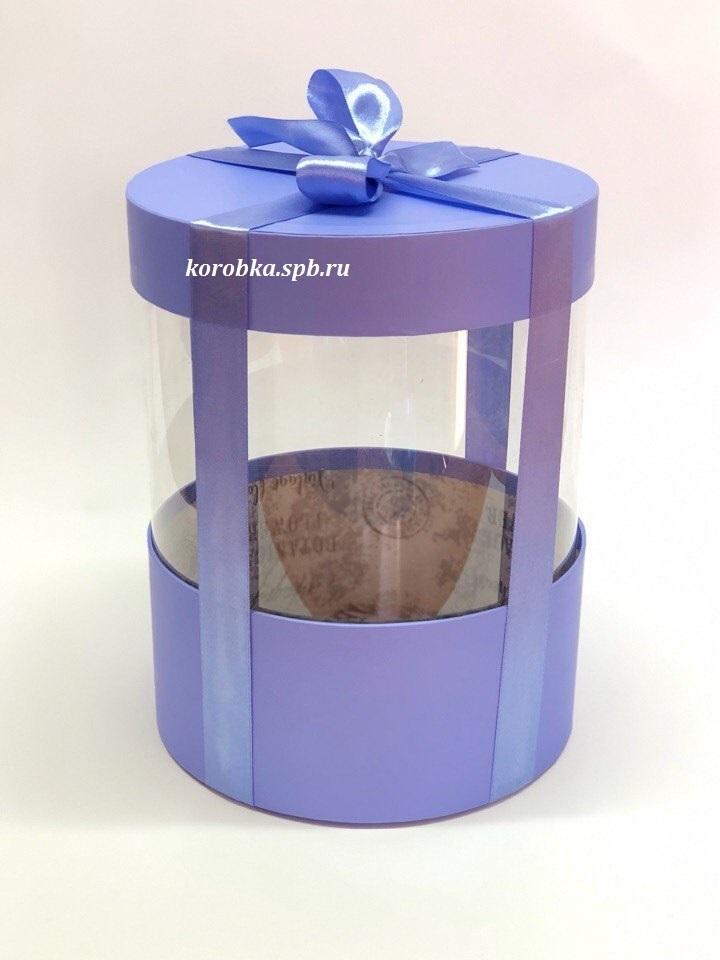 Коробка аквариум 16 см Цвет : Светло фиолетовый  . Розница 350 рублей .