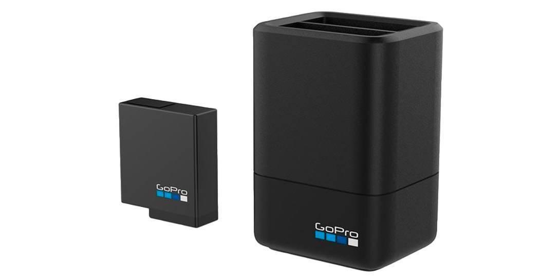 Зарядное устройство для 2-х аккумуляторных батарей Dual Battery Charger для HERO5, HERO6 и HERO7 Black (AADBD-001-RU) с аккумулятором