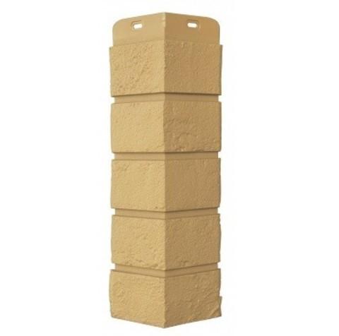 Угол наружный Грандлайн Состаренный кирпич песочный 417х120 мм