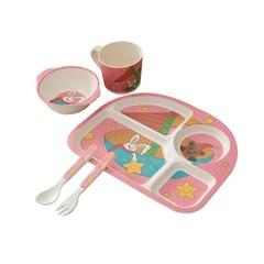 Набор детской посуды из бамбука №2