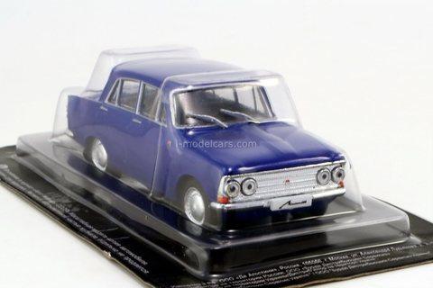 Moskvich-408 (4 headlights) 1964 blue 1:43 DeAgostini Auto Legends USSR #277