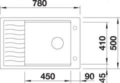 Мойка Blanco Elon XL 6 S Антрацит - схема
