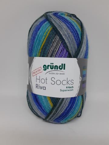 Носочная пряжа Gruendl Hot Socks Riva 08