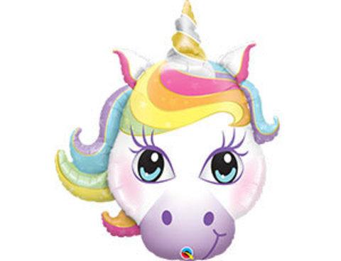 Фольгированный шар Единорог волшебный голова