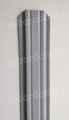 Евроштакетник металлический 85 мм RAL 7004 П - образный 0.5 мм