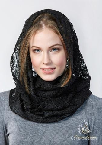 Шарф-снуд  черного цвета