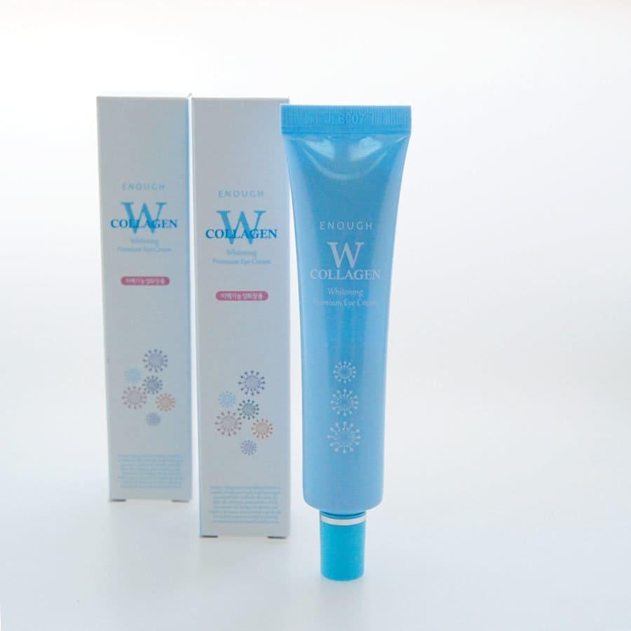 Осветляющий крем для кожи век с морским коллагеном и ниацинамидом - Enough W Collagen Whitening Premium Eye Cream