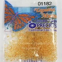 01182 Бисер 10/0 Preciosa Кристалл Соль-Гель оранжево-желтый