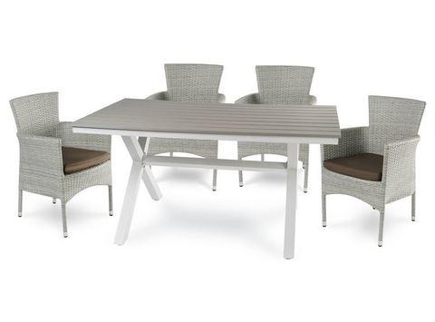 Стол алюминиевый Арома, светло-серый