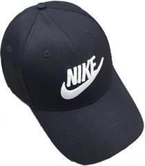 Черная кепка Nike 1144 Black-White.