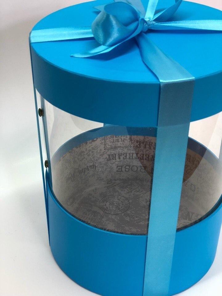 Коробка аквариум 16 см Цвет :Ярко голубой  . Розница 350 рублей .