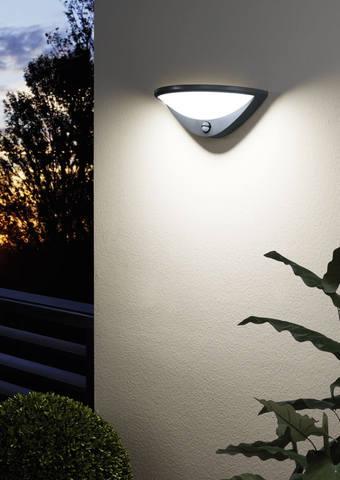 Уличный светильник с датчиком движения и с сенсором DAY & NIGHT Eglo BELCREDA 97312 2