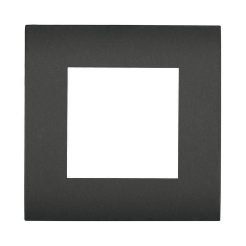 Рамка на 1 пост. Цвет Чёрный бархат. LK Studio LK45 (ЛК Студио ЛК45). 854108