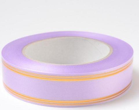 Лента золотая полоса PL (размер: 2 см х 50 ярдов) Цвет: сиреневый