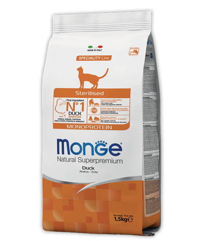 Monge Speciality Line Adult Sterilised Cat Monoprotein Duck