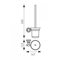 Держатель для туалетной щетки (ершик) настенный KAISER Arno KH-2206 схема