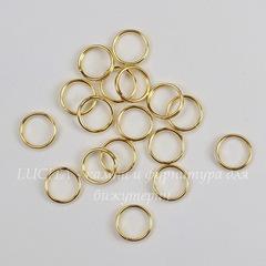 Комплект двойных колечек 8х1,4 мм (цвет - золото), 20 гр (примерно 140 шт)