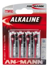 Батарейка щелочная AA ANSMANN Red 1.5V - 4шт