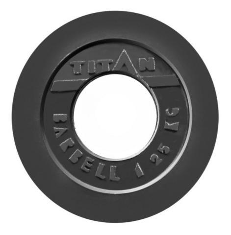 Блин обрезиненный черный  d-51 mm 2,5 кг