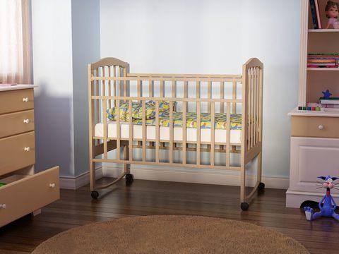 детская кровать Золушка 1 (натуральное дерево)