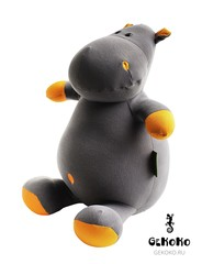 Подушка-игрушка антистресс «Бегемот малыш Няша», оранжевый 3