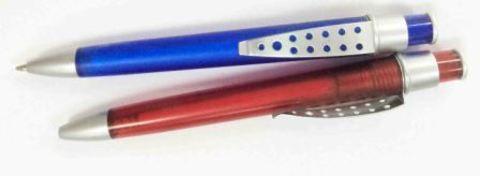 Ручка шариковая(45-19-14) в ассор мет под лог./100