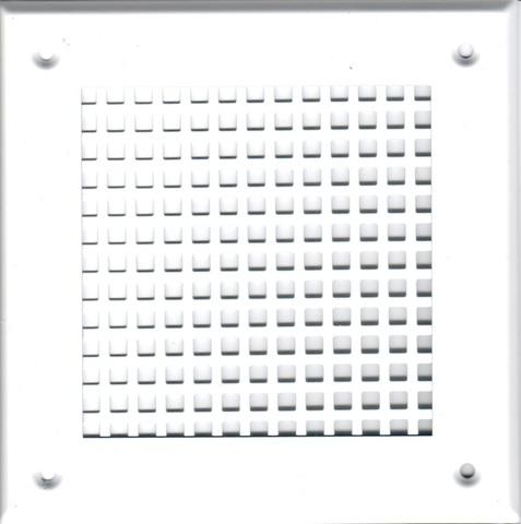 Решётка 210*250 белая, большая клетка