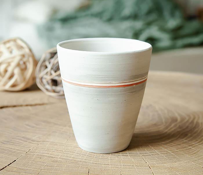 CUP107-1 Оригинальный керамический стакан ручной работы фото 02
