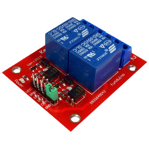 Релейный модуль 2 канала 5V