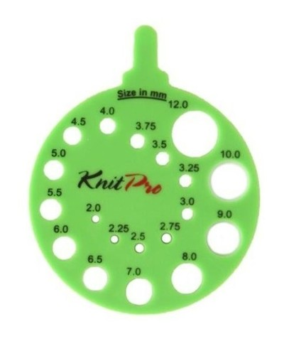 Линейка Knit Pro круглая зеленая 10992