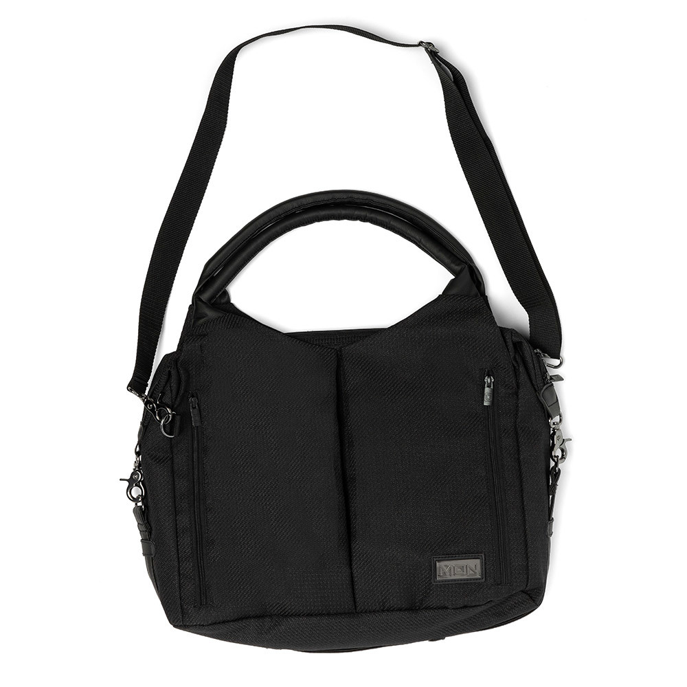 Сумки для коляски Moon Сумка Messenger Bag Black 68010042-201-WICKELTASCHE-TREND-BLACK-FRONT.jpg