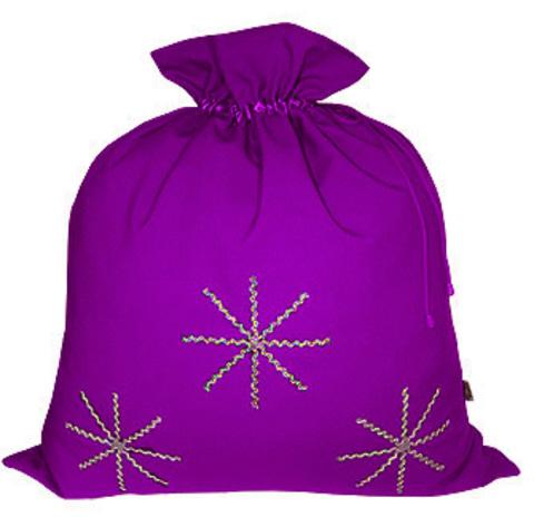 Фиолетовый мешок со снежинками