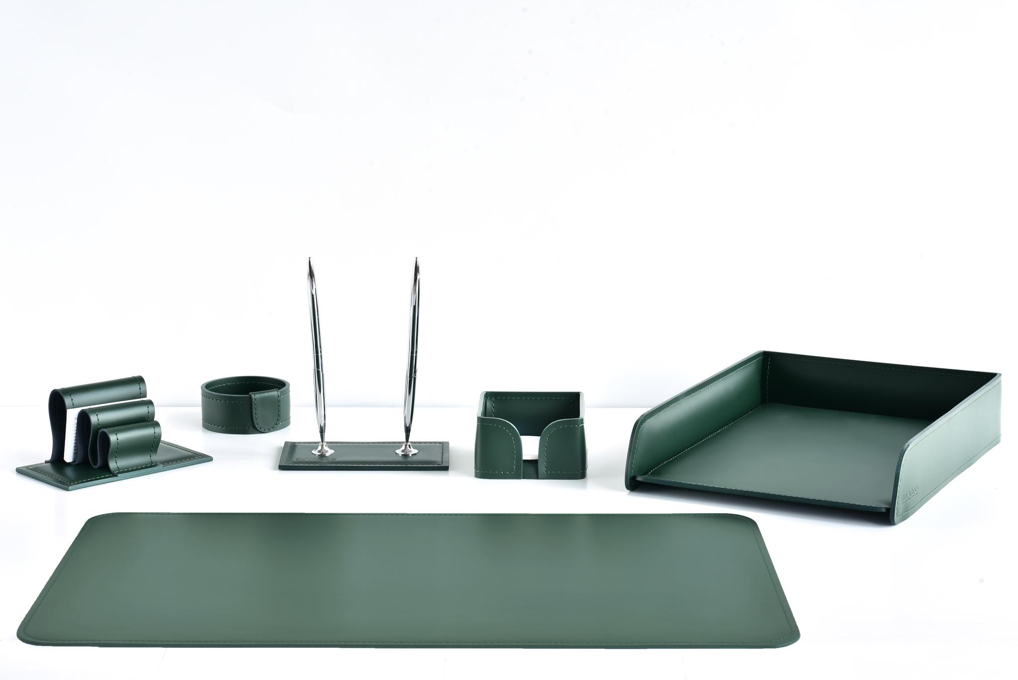 зеленый набор на стол