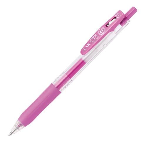 Ручка гелевая Zebra Sarasa Clip Neon Colors (неоново-пурпурная 0,5 мм)