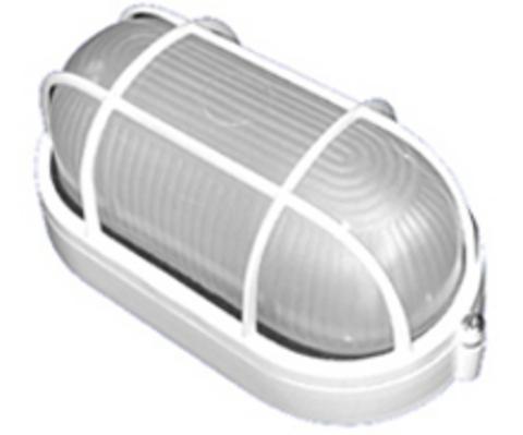 Светильник НПБ1202 белый/овал с реш. 100Вт IP54 TDM