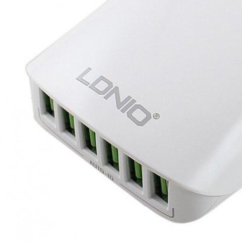 Сетевое зарядное LDNIO A6573 (6USB 5 4A)