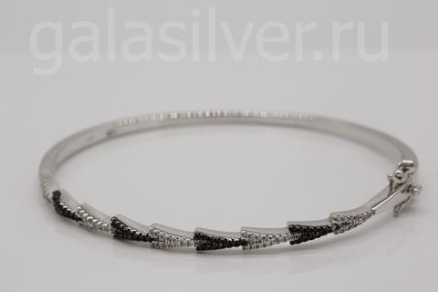 Браслет с цирконом из серебра 925