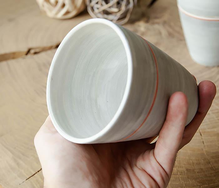 CUP107-1 Оригинальный керамический стакан ручной работы фото 06